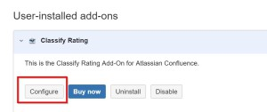 Configuration Link - Content Rating for Confluence